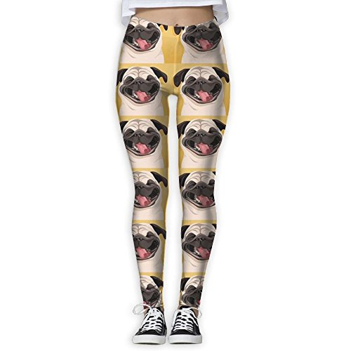 LanFong Women's Yoga Pants Funny Pug Smile Wallpaper Athletic High Waist Capris - Wallpapers India Sunglasses