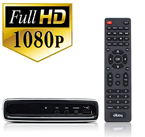 - Exuby Digital Converter Box with RCA AV Cable for Recording and Watching Full HD Digital Channels - Instant & Scheduled Recording, 1080P, HDMI Output, 7 Day Electronic Program Guide