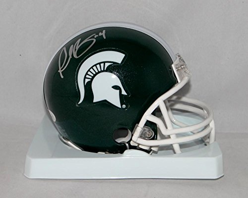 Plaxico Burress Autographed Michigan State Mini Helmet- JSA W Authenticated