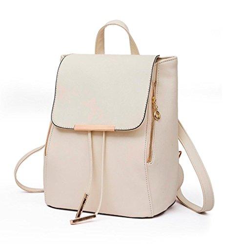 muchachas bolso las del embrague del bolso del de 2pcs de bolso de cuero hombro Morwind recorrido Negro Beige por qwf6xOrq