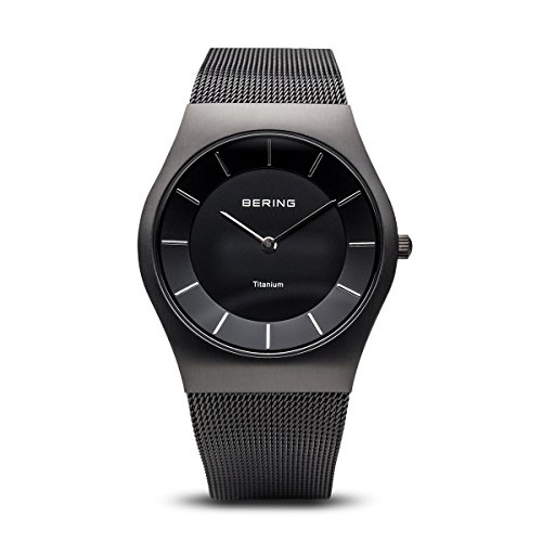BERING Time 11935-222 Mens Classic Collection Watch with Mesh Band and Scratch Resistant Sapphire Crystal. Designed in Denmark. ()