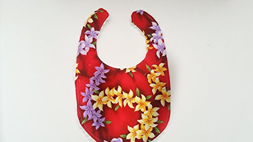 Baby Chenille Bibs Boutique - Hawaiian Bib Set With Chenille Backing