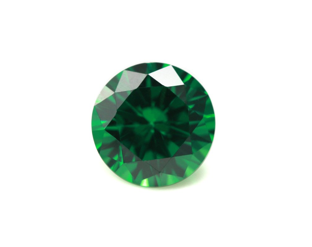 Alone Moon loose ruby sapphire Emerald synthetic gemstones round diamond cut perfect replacement for jewelry making (8mm, 40pcs)