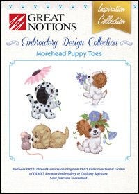 Great Notions Embroidery (Great Notions Embroidery Design Collection - Morehead Puppy Toes)
