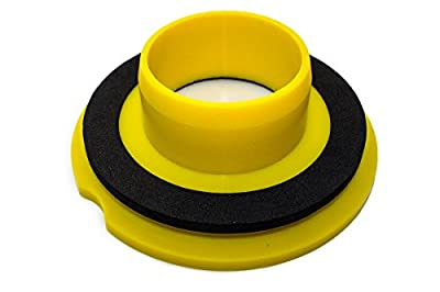Leakno Gasket - Wax Free Toilet Seal | Toilet seal | Toilet Gasket Seal | Waxless Toilet Ring | One Size Fits Any Size Flange Toilet Horn Drain | Universal Kit + Hardware Set (1)