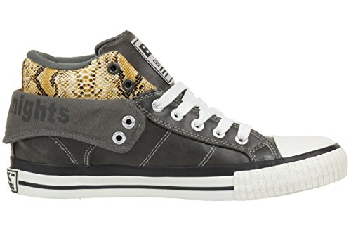 Dark women Grey Knights 3745 03 B34 B34 yellow British ROCO Sneaker trainer 03 BK 3745 brown fvawq