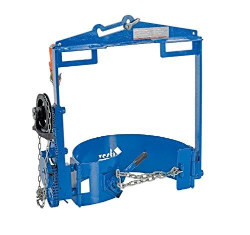 (Vestil DCT-75 Drum Hoist Carrier/Rotator, 800 lb. Capacity, Blue)