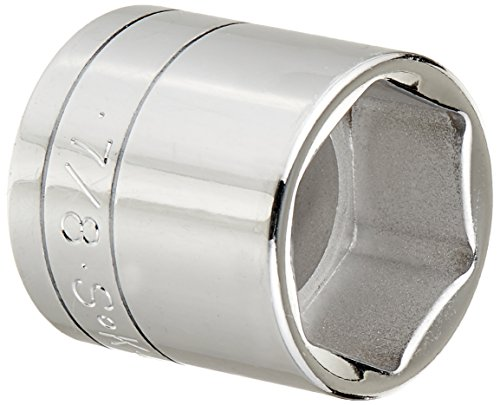 SK Hand Tool 45028 6 Point 3/8-Inch Drive Standard Socket, 7/8-Inch, ()