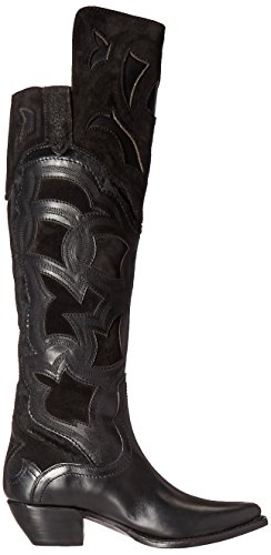 Frye Women's Shane Embroidered Cuff Western Boot Black mOb7dtA1I