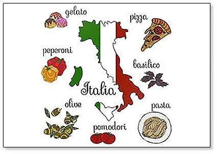 Imán para nevera, diseño de símbolos e iconos de Italia: Amazon.es ...