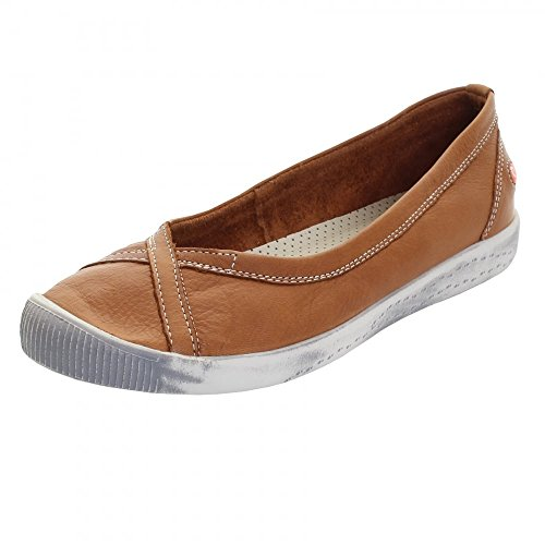Softinos Womens Ilma Leather Shoes marrón claro