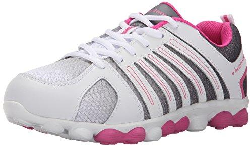 Cherokee Women's Twistedlove Work Shoe, White/Pink Party, 9 M (Cherokee Lightweight Clog)