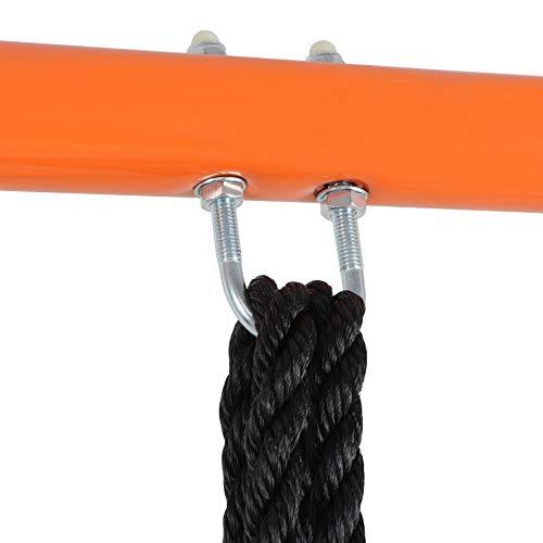 SUPER DEAL Swing Set, 40 Kids Web Tree Swing Saucer Swing + 72 All-Steel All Weather Stand Combo (Blue, XXL)