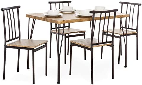 picture of Best Choice Products 5-Piece Indoor Modern Metal and Wood