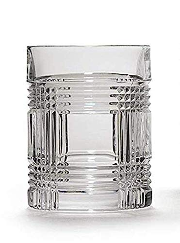 (Ralph Lauren Glen Plaid Double Old Fashioned Single Crystal Glass 11.1 Ounces Made in Germany)