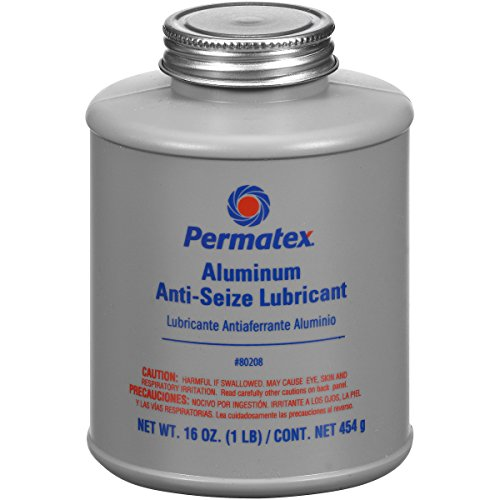 Permatex 80208 Anti-Seize Lubricant with Brush Top Bottle, 16 oz.