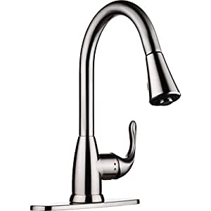 pH7 Single Handle Pull Down Sprayer Kitchen Sink Faucet