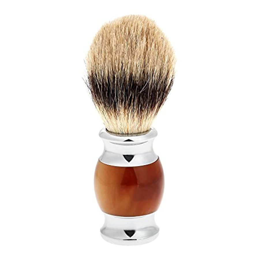 概念選出する自動化1PC メンズ ひげブラシ アナグマ毛 シェービングブラシ バーバー シェービング用ブラシ 理容 洗顔 髭剃り