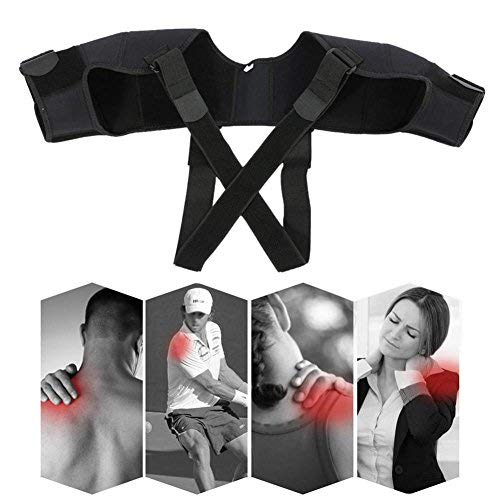 Filfeel Shoulder Support, Adjustable Breathable Shoulder Brace Correction Belt for Shoulder Posture Support (M)