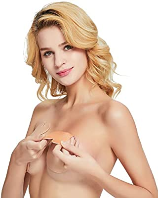 Muryobao Women Lift Nipplecovers Adhesive Strapless Backless Bra (The Latest Model of 2019)