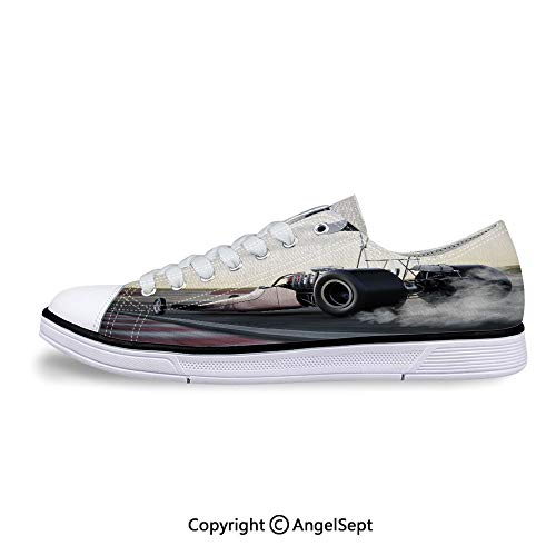 Sneakers for Ladies The Track with Burnout Competition Low Top Canvas Shoes