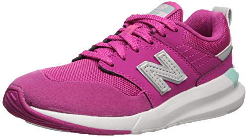 New Balance Girls' 009 V1 Running Shoe, Carnival/Light Reef, 5 M US Big Kid (Best Shoes For Gym Classes)