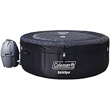 Coleman SaluSpa 4 Person Portable Inflatable Outdoor Spa Hot Tub, Black