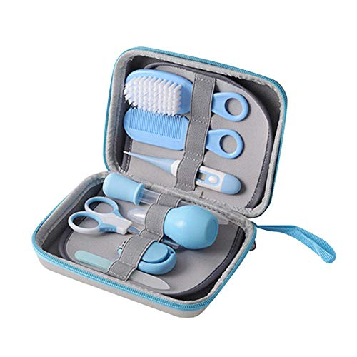 AOLVO Groom Kit for Baby, 8 in 1 Mini Baby Deluxe Grooming Kit Basic Baby Healthcare Grooming Kit with Storage Bag for Infants, Newborns, Kids, Boys and Girls