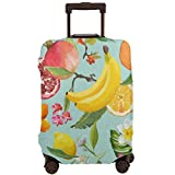 Pomegranate Lemon Palm Leaves Travel Luggage Cover DIY Prints Suitcase Protector Suitcase Baggage XL Fits 29-32 inch luggage