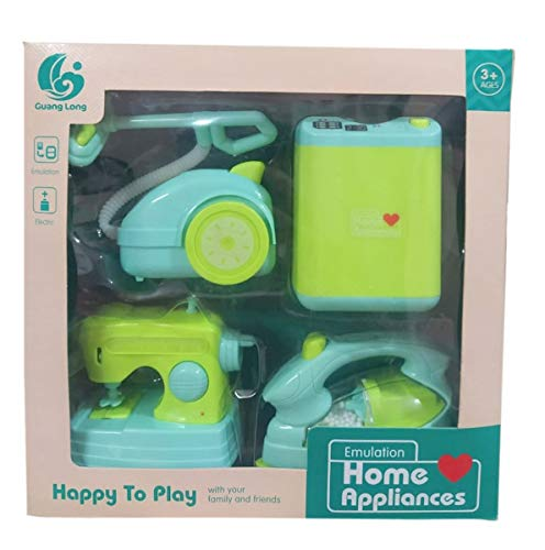 IndusBay® Kitchen and Household Utility Toy Set for Kids Working Household Appliances Set (Washing Machine, Vaccum Cleaner, Iron, Swing Machine ) with Light & Sound for Girls… 41CiJvsZE7L India 2021