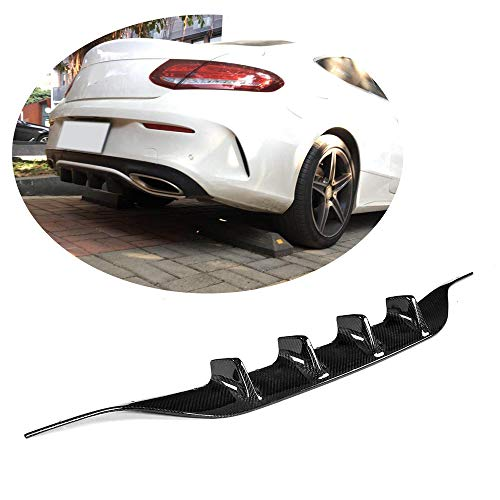 C43 Body Look Kit - MCARCAR KIT Rear Diffuser fits Mercedes Benz C Class W205 C205 A205 C43 AMG 2Door 2015-2018 Customized C180 C200 C250 C300 C350 Real Carbon Fiber CF Lower Bumper Lip Spoiler Body Kit