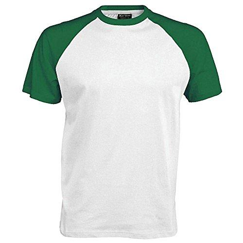 Marine Pour shirt Homme Baseball Blanc bleu T Courtes Manches Kariban De À P0n4w