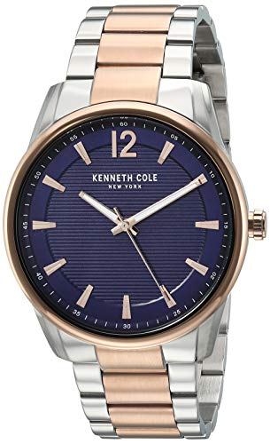 Kenneth Cole New York Men's Classic Japanese-Quartz Watch with Stainless-Steel Strap, Two Tone, 19.8 (Model: KC50688007)