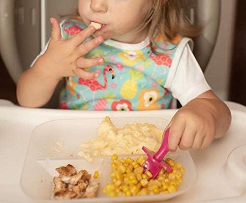 Ensemble de couverts pour encourager votre b/éb/é /à manger de mani/ère ind/épendante Cuill/ère b/éb/é Fourchette b/éb/é sa Cuill/ère et Fourchette pour b/éb/é,Multicolores