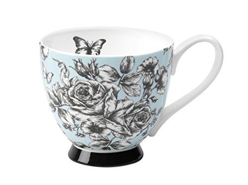 Portobello by Inspire Bone China Eng Country Footed Mug, -