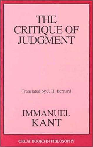 Critique Of Judgment Pdf