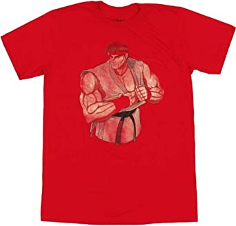 Amazon Com Street Fighter Ryu T Shirt Sheer Xx Large Clothing