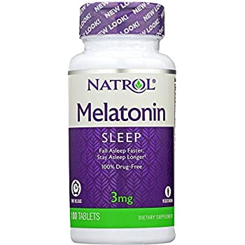 Natrol Melatonin TR Time Release 3 mg, 100 Tablets (1 Item only)