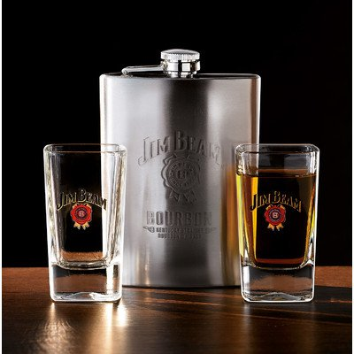 Jim Beam 3 Piece Flask Set by Luminarc
