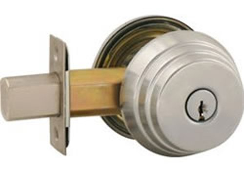 Arrow Lock E Series Stain Chromium Occupancy Indicator Deadbolt Auxiliary Lock, 1-3/8