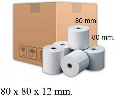Rollos de papel térmico de 80x80x12 caja de 48 unidades: Amazon.es ...