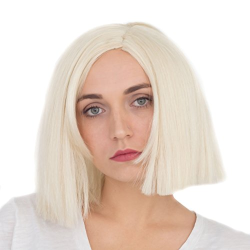 [Adult Deluxe Platinum Blonde Kylie Jenner Cosplay Costume Accessory Wig] (Caitlyn Cosplay Costume)