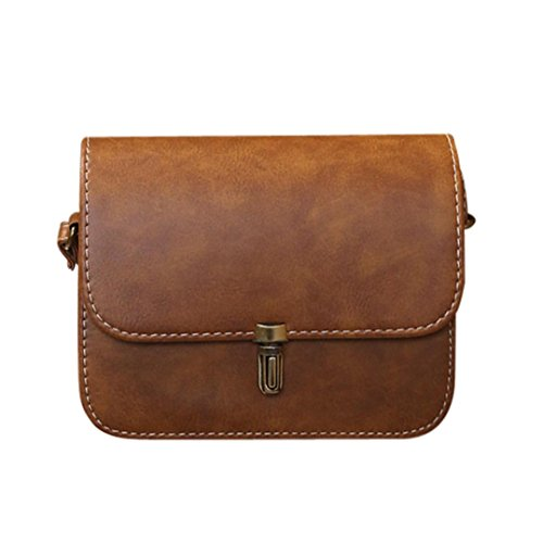 Bamboo Hobo - Sunyastor Hot Sale! Women Handbag, Retro PU Leather Shoulder Satchel Bag Satchel Handbag Tote Hobo Messenger Crossbody Bag Packet (Brown, one Size)