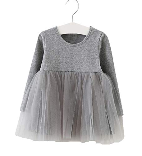 Tutu Dress For Toddlers (GSVIBK Baby Girls Tutu Dress Toddler Infant Tulle Skirts Sleeveless/Long Sleeve Cute Tutu Dress Mini Dress (3 Years,)