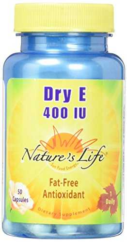 Nature's Life E 400 IU Capsules, Dry, 50 Count