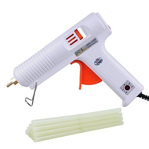 Glue Stick Costume (BSTPOWER Glue Gun and Sticks 100W Professional Adjustable Temperature Full Size Hot Melt High and Low Temp + 10pcs Glue Sticks 10.64inch 11mm)