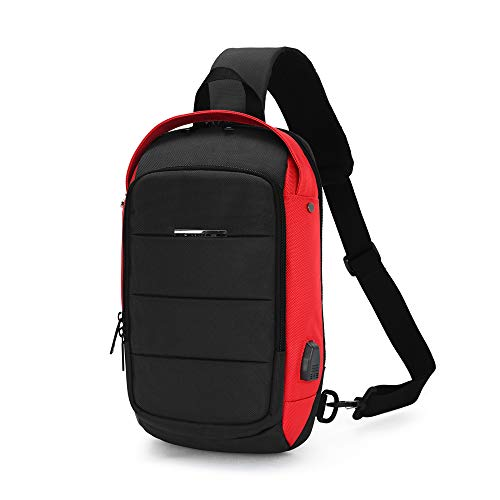 fde44ac774 Details about Sling Backpack Bag Chest Shoulder Cross body Bag Waterproof  with USB Charging Po