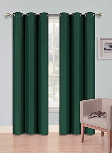 Midwest (WC92) Different Colors and Sizes1 Panel Drape Window Treatment Curtain Thermal Insulated White Coating Blackout Antique Grommets Solid Color (95