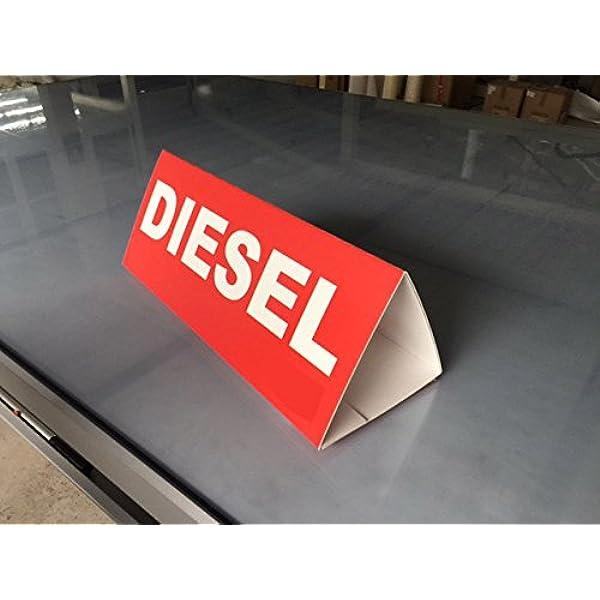 Cartel Coche Diesel 60x25cm | Rótulo Fabricado en ...