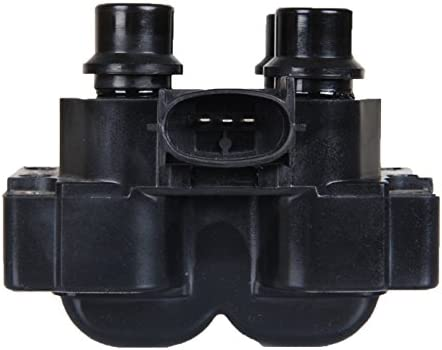 ENA Heavy Duty Ignition Coil Pack of 2 compatible with 89-03 Ford Escort Ranger Mazda 626 B2500 Mercury Cougar Mountaineer 1.9L 2.0L 2.3L 2.5L 4.6L 5.0L